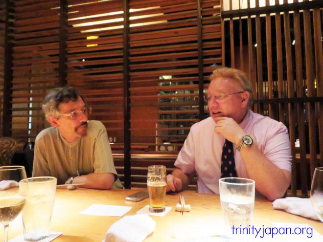 トリニティー・イン・ジャパンとミカエル・アドルフソン教授とのミーティング