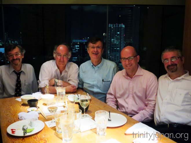 トリニティ・イン・ジャパン・ソサエティのドミニク・リーベン教授とのミーティング、木曜日2016年8月25日