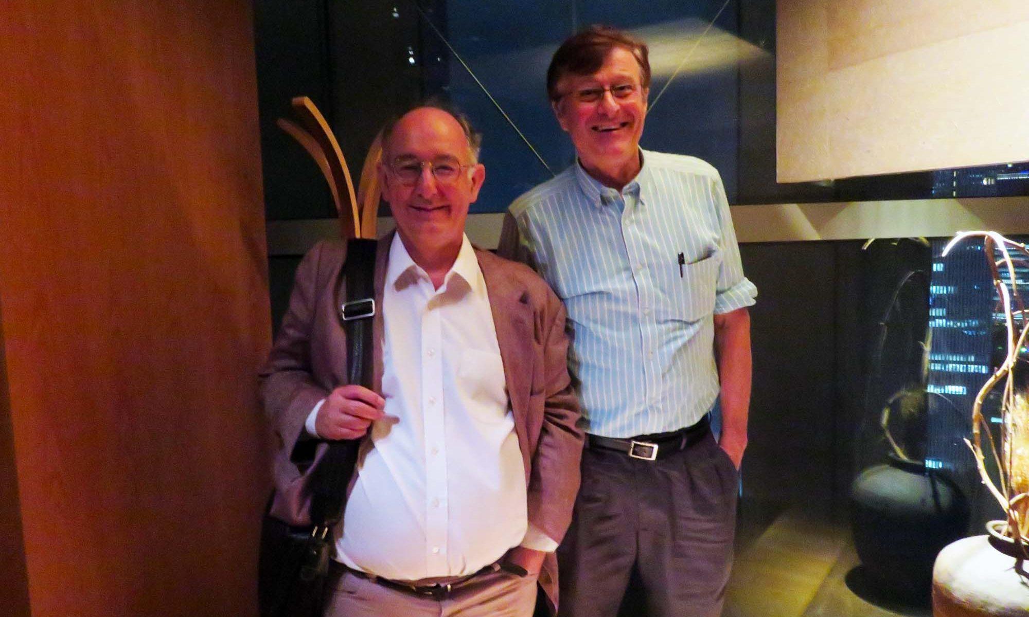 ドミニク・リーベン教授とのトリニティ・イン・ジャパン・ソサエティのミーティング、金曜日2016年9月16日