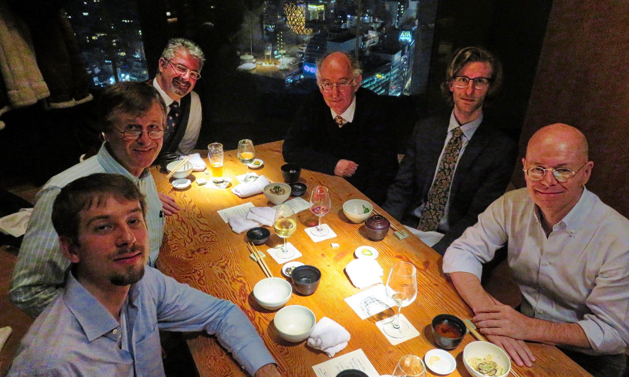 トリニティー・イン・ジャパンの忘年会は2017年12月15日(金曜日)、ドミニク・リーベン教授参加