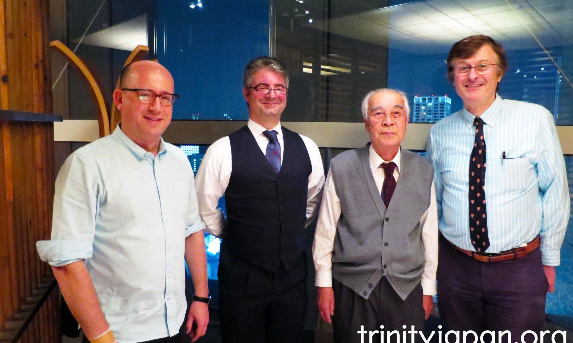トリニティ・イン・ジャパン・ソサエティの第四回ミーティングは金曜日2015年10月30日