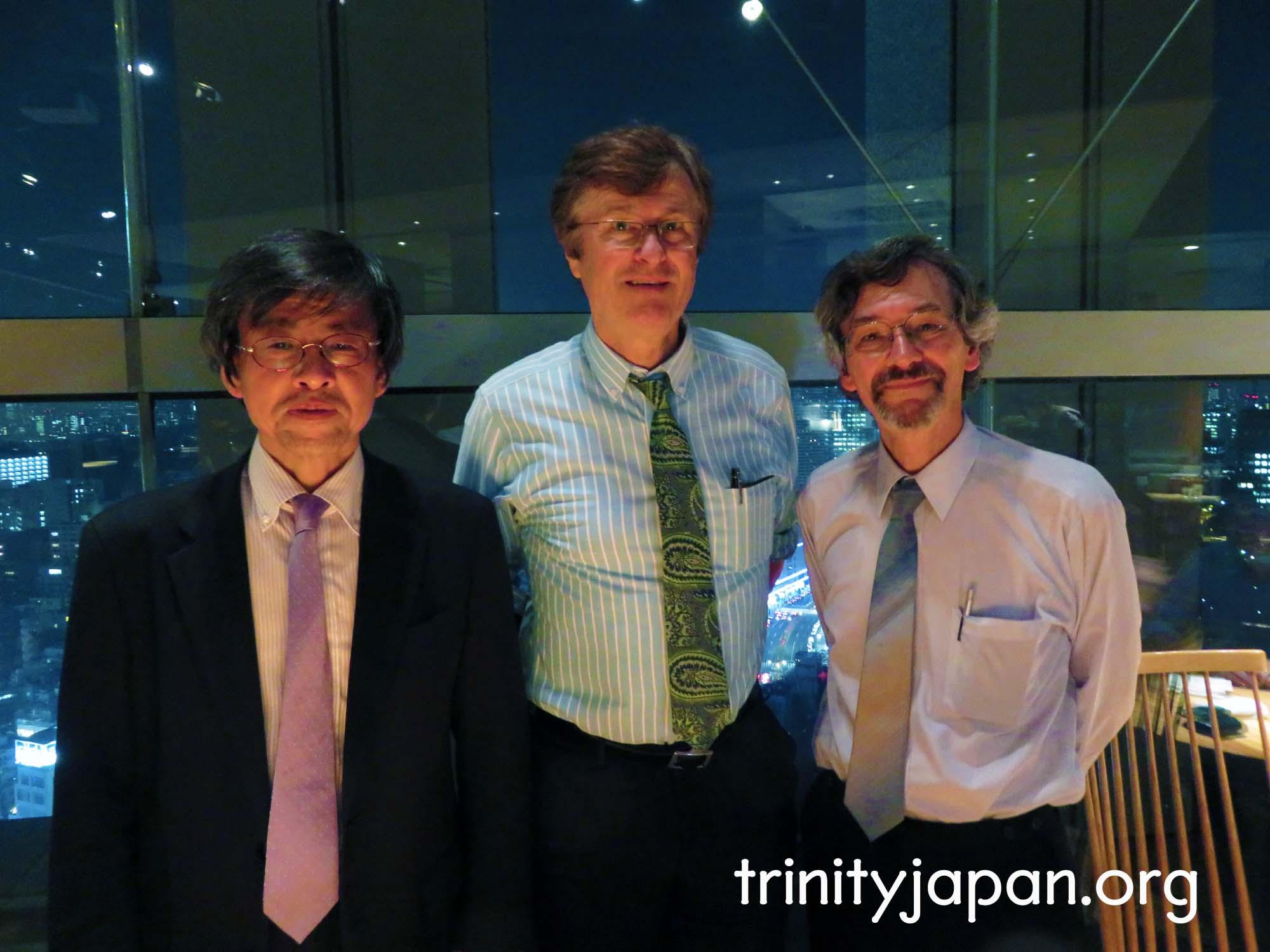 トリニティ・イン・ジャパン・ソサエティのミーティング、木曜日2016年5月27日