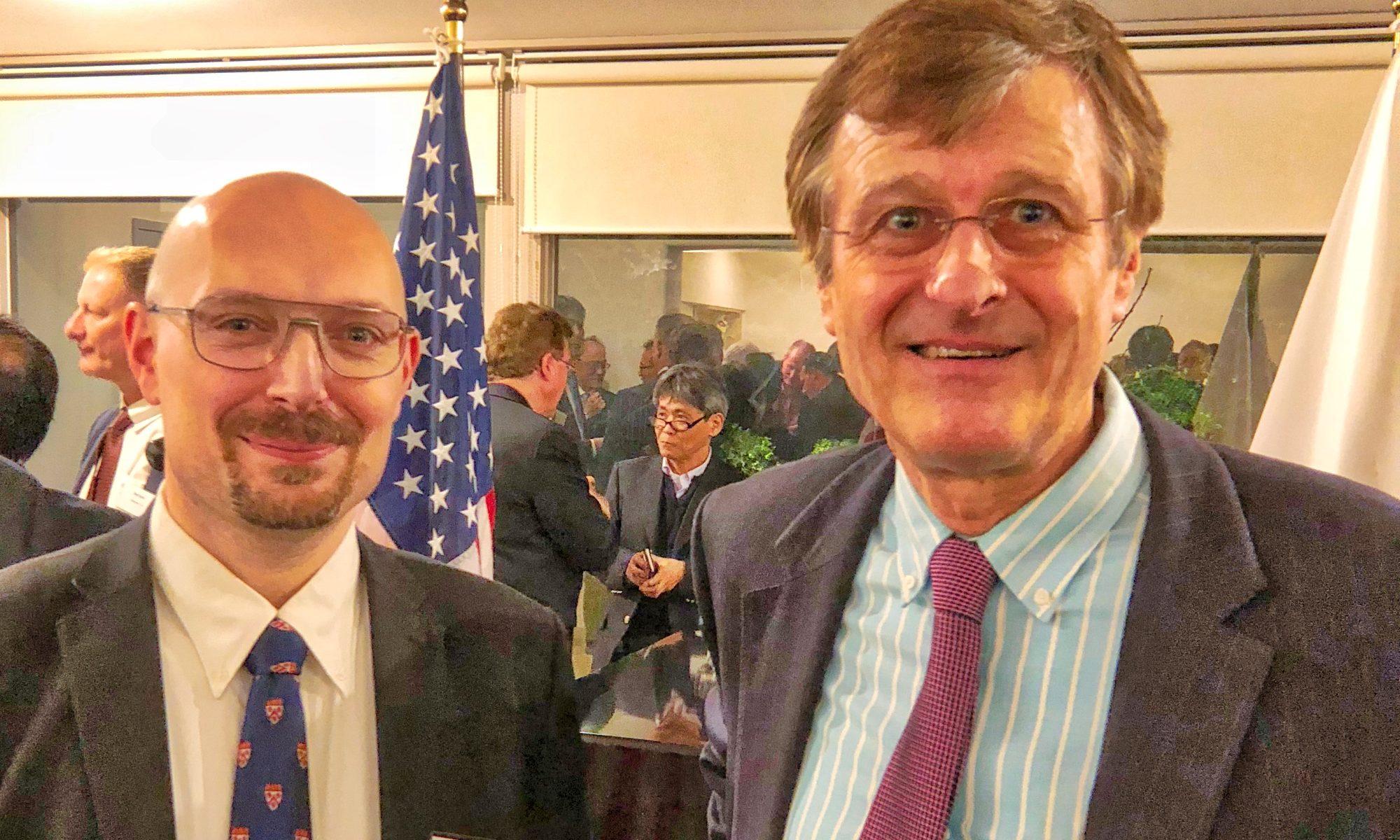 スタヤノ・フランク教授、トリニティー・フェローとのミーティング、2018年3月29日