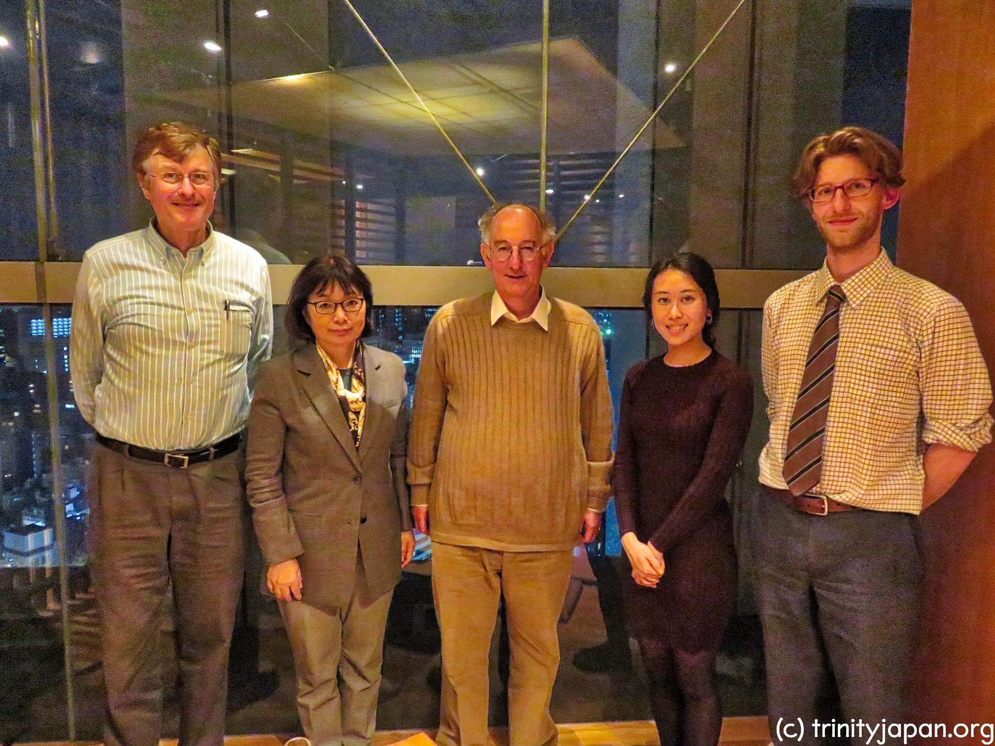 ドミニク・リーベン教授・フェローとのトリニティー・イン・ジャパンのミーテイング2018年4月20日