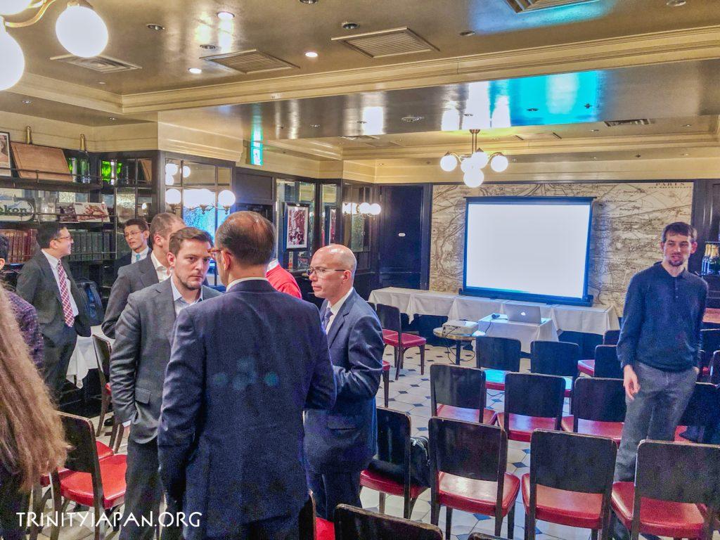 日本のコルポレートガバナンス改革。HEC, École Polytechnique, Sciences Po, Edhec, Essec、ケンブリッジ大学のトリニティ・イン・ジャパンの共同イベント。2019年3月7日