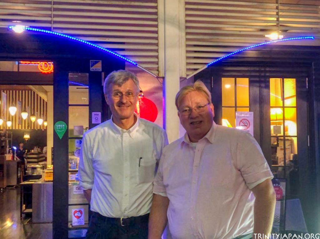 ミカエル・アドルフソン教授・フェロー(右)、ゲルハルト ファーソル(左)